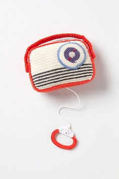 Crochet music box radio from anthro