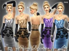 Shine Dresses by Devirose at TSR • Sims 4 Updates
