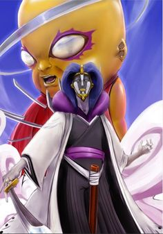 Kurotsuchi Mayuri - Captain of Squad 12 and heads Research and Development Wing. One hell of a scientist. Shinigami, Anime People, Anime Guys, Manga Anime, Bleach Fanart, Bleach Manga, Guess The Anime, Anime Love, Bleach Characters