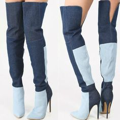 EDITOR'S NOTE Colorblock High Heel Thigh High Boots Super Trendy 2 color thigh high boots. This is selling very fast.Hot Discount Deal! *Use discount code found in supplier's homepage…