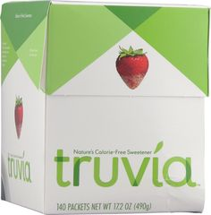 Truvia - a natural sugar substitute! Love sprinkling it on my strawberries :) shhh