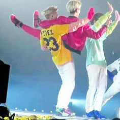 Tao carrying our giant maknae one handed~~ I don't think there are words for how impressed I am.