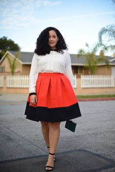 Skirt: Asos, old (similar here in +) | Top: Dorothy Perkins (goes to size 18!) | Shoes: Jeffrey Campbell, Nordstrom, old (love these alternatives here) | B