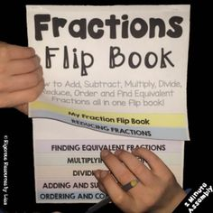How to add, subtract, multiply, divide, add, subtract, order and compare fractions in one flip chart!