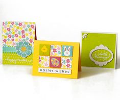 Super Cute Easter Cards! Find more creative ideas at Stamping Memories in Belmont NH. The owner is a sweetheart and more than willing to share her inspirations.