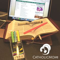 """Lisa Hendey shares the tools she's using for her """"Bible Road Kit"""" travel solution to take her Bible everywhere."""