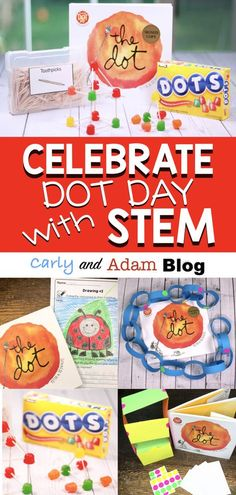 Celebrate International Dot Day with STEM: International Dot Day is celebrated on September The inspiration for the day comes for the book, The Dot, by Peter H. It is a day meant to encourage students to be creative, curious, and brave. Bucket Filler, The Dot Book, Kindergarten Stem, International Dot Day, Stem Projects, Art Projects, Inspiration For The Day, Library Lessons, Stem Science