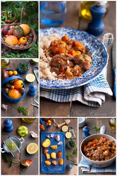 {♬ I'm eating in the rain ♪…}, Summer osso buco with fresh tomatoes ♥ Milk free ♥ Gluten free ♥ IG Bas ♥. Easter Recipes, Fish And Seafood, Healthy Dinner Recipes, The Cure, Curry, Gluten Free, Fresh, Eat, Cooking
