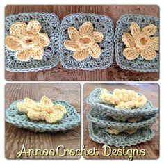 Annoos Crochet World: Spring Daffodil Granny Free Pattern