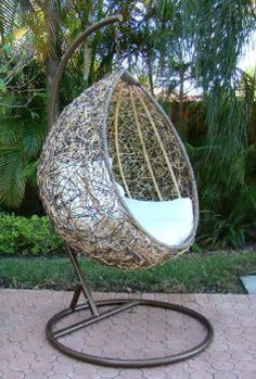 Egg Swing Chair Would love this on a small balcony