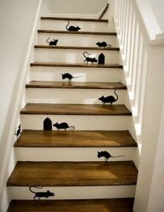 Mice on the staircase  funny staircase painting