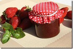 confiture de fraise au basilic