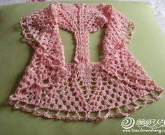 DE MIS MANOS TEJIDOS Y MAS...: Chalecos circular rosa a crochet