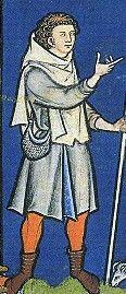 Morgan Library ms m.638 (Maciejowski Bible) Paris 1244-1254AD Fol. 25r. The shepherd, David