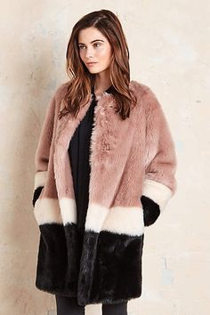 Anthropologie EU Pallenberg Faux Fur Coat by Maison Scotch. Amsterdam-based brand Maison Scotch launched in summer 2010 as an off-shoot to their first label Scotch & Soda. Both brands are inspired by vintage silhouettes, rich hues, and unexpected detailing.