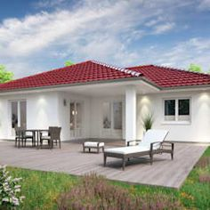 If one-storey homes make you think of outdated granny bungalows, we've found some houses that will get you out of that mindset! Bungalow House Design, Bungalow House Plans, Dream House Plans, Small House Plans, House Floor Plans, Bungalows, One Storey House, Beautiful House Plans, Front Courtyard