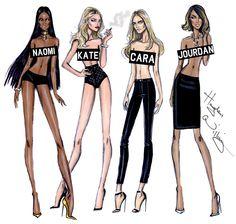 Naomi, Kate, Cara & Jourdan by Hayden Williams