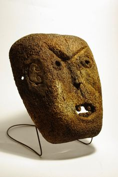 Antique whale bone mask (Ire) - from Atoni people - West Timor, Indonesia