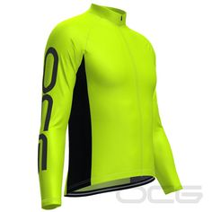 Whether you want to not feel the bite of the winter chill, or you just need some extra protection with a light-weight long-sleeve jersey, thisMen's OCG High Viz Neon Long Sleeve Cycling Jerseywill do the trick.Exclusively designed and manufactured by OCG our long sleeve jerseys come with or without winter thermal fle Women's Cycling, Cycling Jerseys, Cycling Quotes, Bike Rides, Bicycle Design, Vintage Bicycles, Wakeboarding, Extreme Sports, Anti Wrinkle