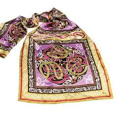 Purple Olive Celtic Knot Silk Scarf Accessorize your wardrobe with Celtic class and set yourself apart when you wear this 100% silk scarf.  http://www.shopirish.com/Purple-Olive-Celtic-Knot-Silk-Scarf
