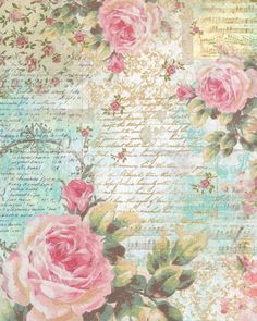 Rice Paper for Decoupage Decopatch Scrapbook Craft Sheet Music Sheet & Roses in Crafts, Multi-Purpose Craft Supplies, Crafting Paper Paper Napkins For Decoupage, Decoupage Vintage, Vintage Diy, Vintage Ephemera, Vintage Paper, Shabby Vintage, Shabby Chic, Paper Art, Paper Crafts