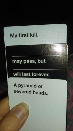 Cards Against Humanity, Blood for the Blood God Skulls for the Skull Throne Cards Vs Humanity, Funniest Cards Against Humanity, Funny Pins, Funny Memes, Hilarious, Funny Stuff, Jokes, Offensive Humor, Disney Cards