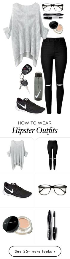 """""""Untitled #266"""" by gummybear77 on Polyvore featuring NIKE, Marc Jacobs, Lancôme, women's clothing, women, female, woman, misses and juniors"""