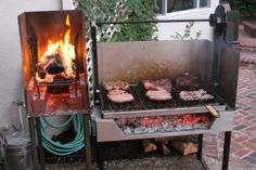 """New """"Gaucho Garcia,"""" Argentine-style grill Kickstarter Project. Bbq Grill, Asado Grill, Patio Grill, Outdoor Grill Area, Bbq Area, Fire Cooking, Outdoor Cooking, Summer Kitchen, Patio Kitchen"""