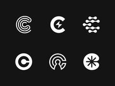C Versions 1 bolt letterform typography letter c monogram logotype symbol mark logo Typo Logo Design, Identity Design, Graphic Design, Logo Design Inspiration, Icon Design, Logo Luxury, Typographie Logo, Circular Logo, Corporate