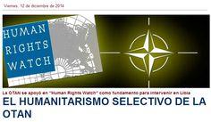 ¿ Porqué a unos Sí y a otros NO? El HUMANITARISMO SELECTIVO de la OTAN