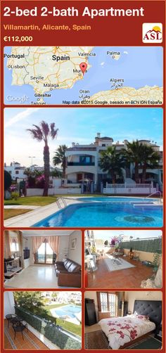 Apartment for Sale in Villamartin, Alicante, Spain with 2 bedrooms, 2 bathrooms - A Spanish Life Apartments For Sale, Valencia, Portugal, Built In Bbq, Alicante Spain, Open Fireplace, Family Bathroom, Cupboard Storage, Palmas