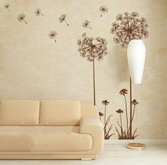 Dandelion Wall Decal Wall Sticker  for by LittleSquirrelDecors, $35.00