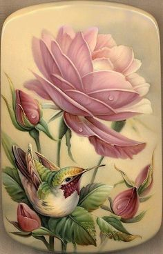 Coloring for adults - Kleuren voor volwassenen China Painting, Tole Painting, Painting & Drawing, Floral Vintage, Vintage Flowers, Arte Floral, Russian Art, Bird Art, Beautiful Birds