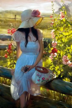 25 Beautiful Oil Paintings by Andrei Belichenko - Woman, Garden and Dreams - 21