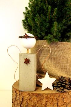 PamyLotta: Weihnachtsengel aus Beton - DIY