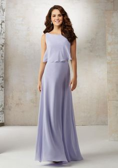 Mori Lee Bridesmaids 21502. A Draped Overlay Accentuates the Bodice of This  Classic A- 34f426541876