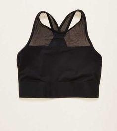 Aerie Hi-Neck Sports Bra.  Work out with simple support or lounge in with pretty details. #Aerie