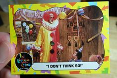 In Living Color TV Show Trading Card 7-16 | Topps cards from the 90s sketch comedy show. Homey the Clown