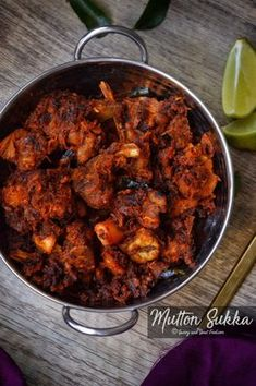 Mutton Sukka is a dry preparation in which the mutton is cooked in aromatic Indian spices. It is then roasted with sautéed onions and other spices till you get dry, slightly crisp mutton piec…
