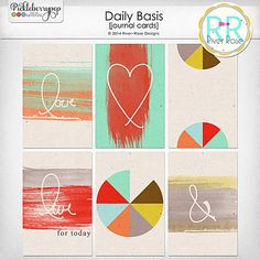 Daily Basis Journal Cards by River~Rose