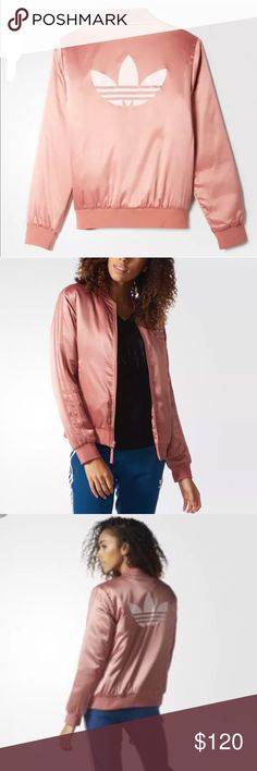 Adidas bomber jacket raw pink New Large Brand new size large True to size... raw pink... price Firm due to fee .. No trades Adidas Jackets & Coats