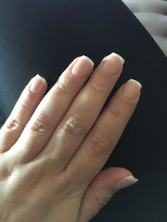 Love My Natural Nail With Acrylic Overlay And French Tip