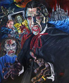 Dracula por ArteHorror en Etsy