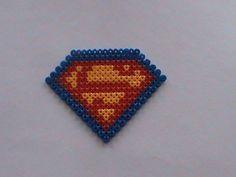 superman perler beads