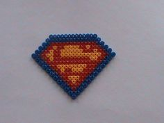 superman perler beads