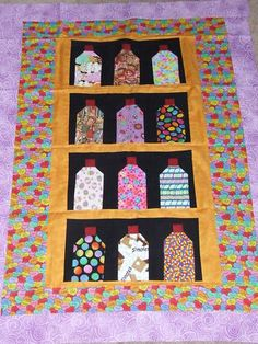 shopgoodwill.com: Handmade Fruit Vegetable Candy in Jars Quilt ... : quilt tops for sale - Adamdwight.com
