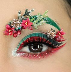 WEBSTA 🎄 It's looking a lot like Christmas 🎄 has created this amazing look using our Bare green pigment in the inner corner! 👉🏽👉🏽 What do you think of this fun look? Christmas Makeup Look, Holiday Makeup, Beautiful Eye Makeup, Pretty Makeup, Eyeshadow Designs, Creative Makeup Looks, Eye Makeup Art, Crazy Makeup, Fantasy Makeup