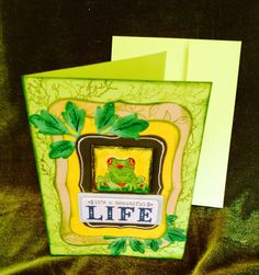 Card frog it's a beautiful life by buttonsandbottles on Etsy, $2.65
