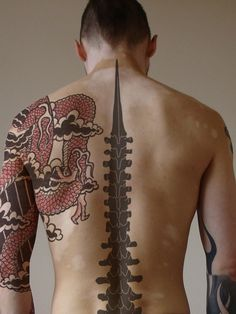 The spine tattoos are applied by both men and ladies, but they are most common among the ladies. They can range from one design to another. There are some that will run from the tip of the spinal code, near the neck, all the way to the lower back. Some will only feature the top part of the spine.
