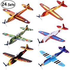 48x Dinosaur Flying Glider Plane Party Bag Fillers Childrens Toy Loot Bag Pinata